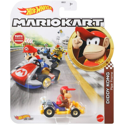 Hot Wheels Mario Kart - Diddy Kong (Pipe Frame)