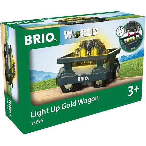 Brio 33896 Light Up Gold Wagon