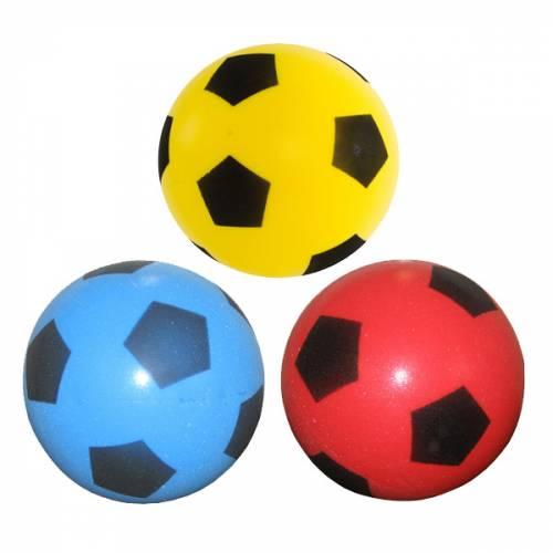 Sponge / Foam Football (20cm) - Assortment Yellow, Red, Blue