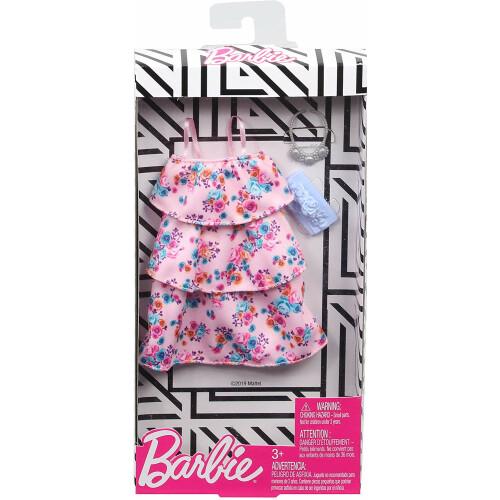 Barbie Fashionistas Pink Floral Dress (GHW80)