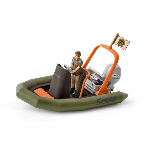 Schleich Wild Life Accessories 42352 Dinghy with Ranger