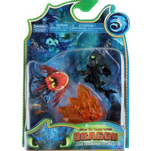 Dragons Bioluminescent Mini Dragons - Hookfang + Toothless