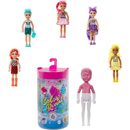 Barbie Colour Reveal Chelsea Doll Color-Block Series