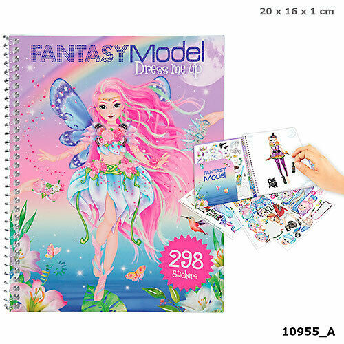Depesche Fantasy Model Dress Me up Sketch Sticker Book Mermaid