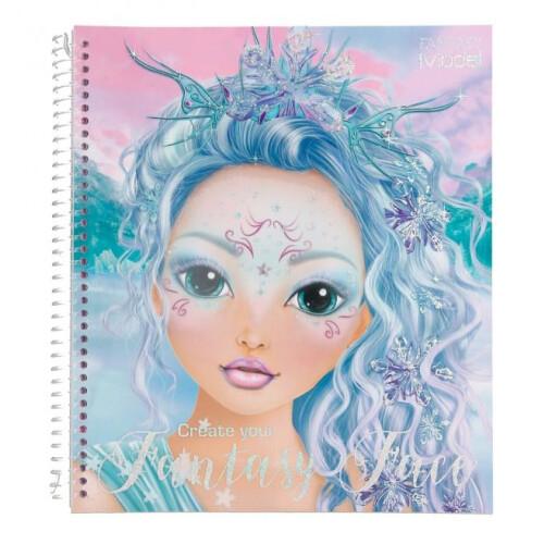 Depesche Fantasy Model Create Your Fantasy Face Colouring Book