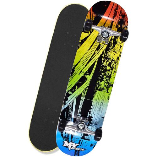 """M.Y X-Skate 31"""" Double Tilt End Skateboard - Inner City"""