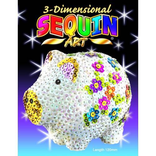 Sequin Art 3D Pig 1704
