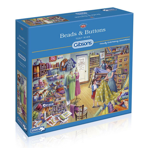 Gibsons Beads & Buttons 1000pc Puzzle