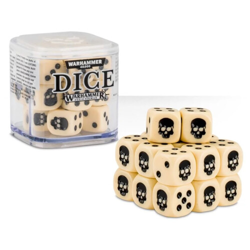 Warhammer Accessories - Citadel Dice Cube: Bone