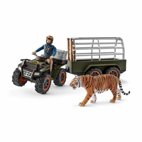 Schleich Wild Life Accessories 42351 Quad bike with Trailer and Ranger