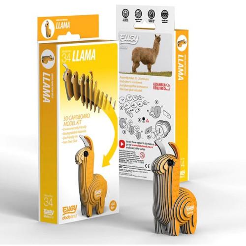 Eugy - 3D Model Craft Kit - Llama