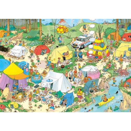 Jan Van Haasteren Camping In The Forest 1000pc Jigsaw Puzzle