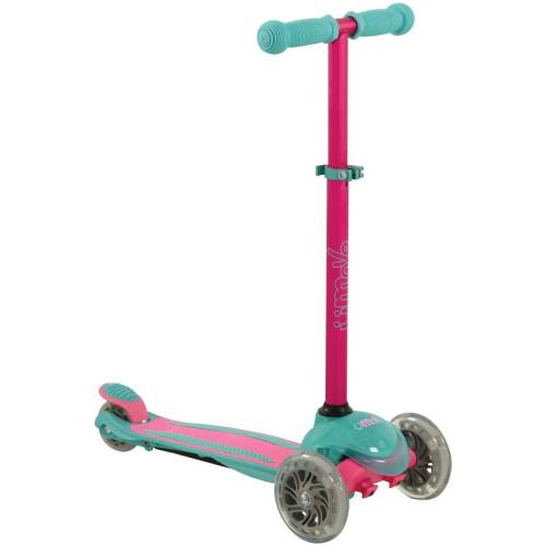U-Move Mini Compact LED Tilt Scooter - Pink & Teal