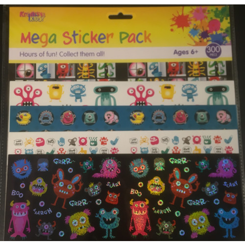 Mega Sticker Pack - Monsters