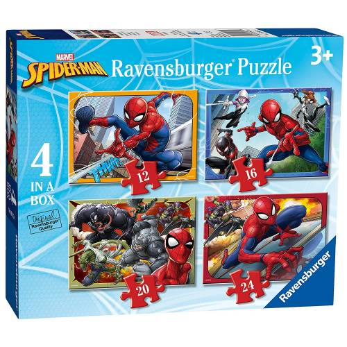 Ravensburger 4 Puzzles in a Box Marvel Spiderman