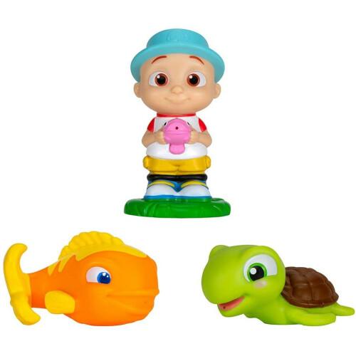 Cocomelon Bath Squirters - JJ, Fish, Turtle