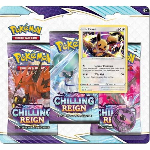 Pokemon TCG Sword & Shield Chilling Reigns 3 Pack Blister Eevee