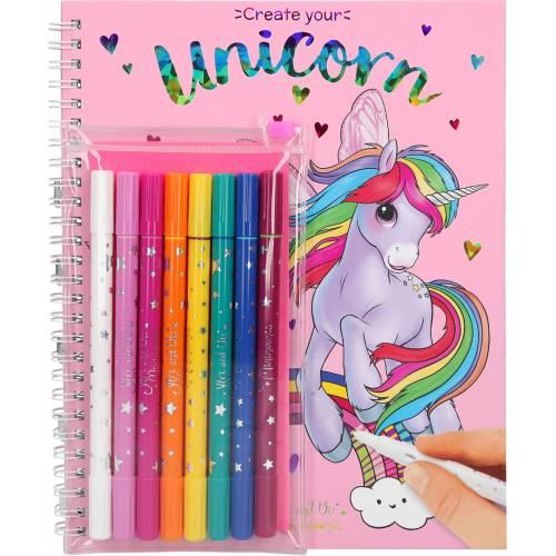 Depesche Ylvi & the Minimoomis Create Your Unicorn with Pens