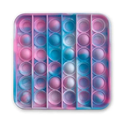 Tie-Dye Push Poppers - Pink & Blue Square