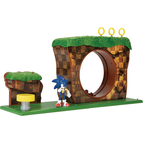 """Sonic The Hedgehog 2.5"""" Figures - Green Hill Zone Playset"""