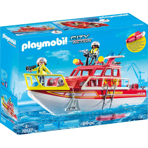 Playmobil 70147 City Action Fire Rescue Boat