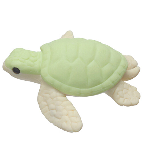 Iwako Puzzle Eraser - Sea Animals - Turtle (Green)