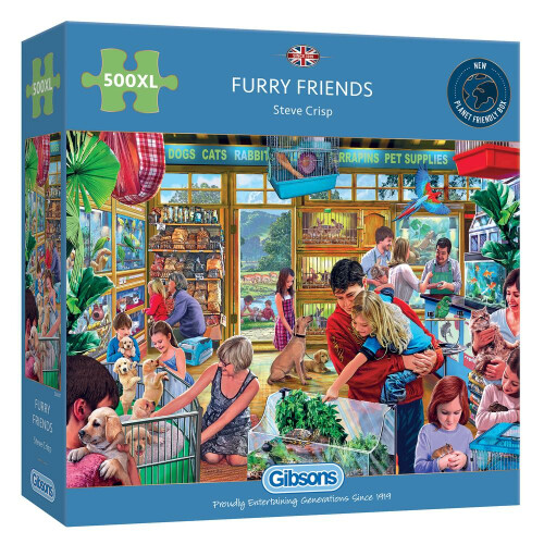 Gibsons Furry Friends 500pc XL Puzzle