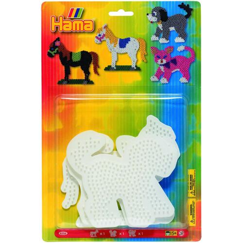 Hama Beads Pegboard Set 4556 Horse, Dog & Cat