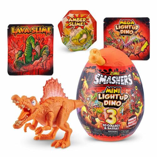 Zuru Smashers Series 4 Mini Light Up Dino - Spinosaurus (Orange)