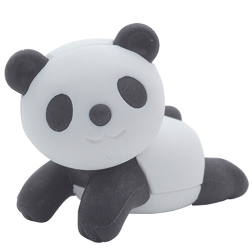 Iwako Puzzle Eraser - Forest Animals - Panda (Laying)