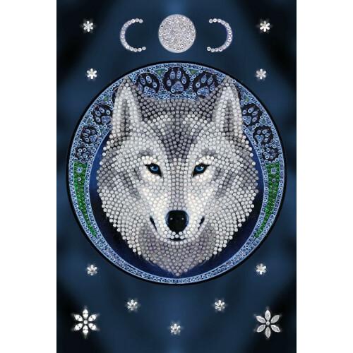 Crystal Art Notebook Kit - Anne Stokes Lunar Wolf