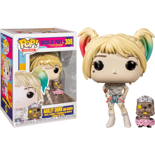 Funko Pop Vinyl - Birds of Prey - Harley Quinn and Beaver 308