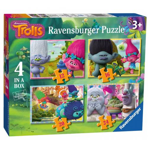 Ravensburger 4 Puzzles in a Box Trolls