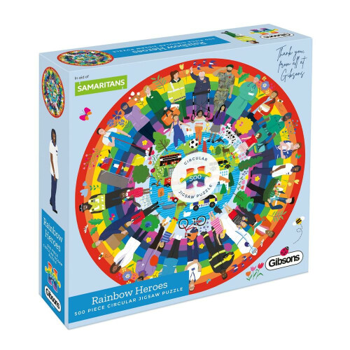 Gibsons Rainbow Heroes 500pc Puzzle