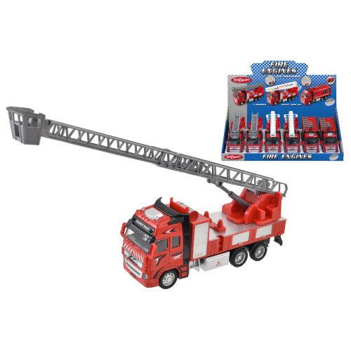 Tranzmasters Die Cast Pull Back Fire Engine