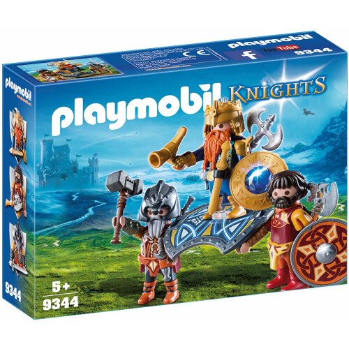 Playmobil 9344 Knights Dwarf King with Guards