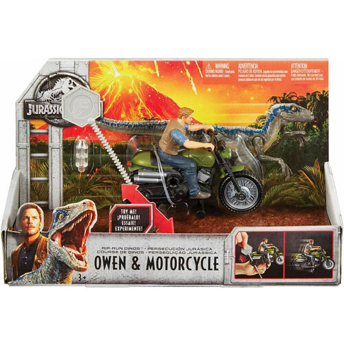 Jurassic World Rip-Run Dinos - Owen & Motorcycle