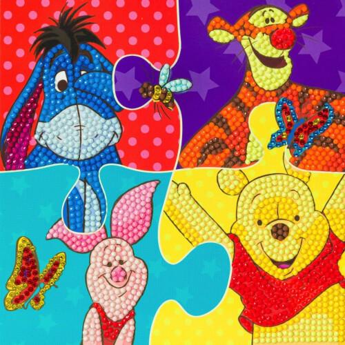 Crystal Art Disney Card Kit - Winnie the Pooh
