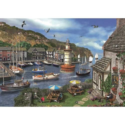 Falcon de luxe Summertime Harbour 1000pc Jigsaw Puzzle