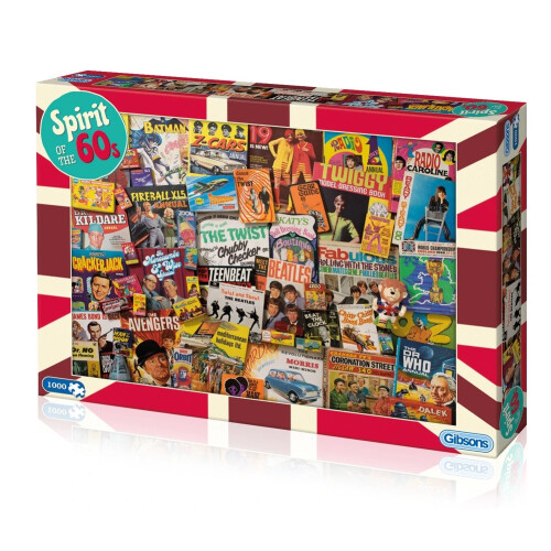 Gibsons Spirit of the 60s 1000pc Puzzle