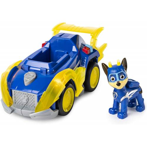 Paw Patrol Mighty Pups Super Paws - Chase Deluxe Vehicle