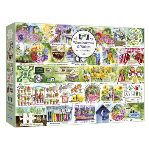 Gibsons Wheelbarrows & Wellies 1000pc Puzzle