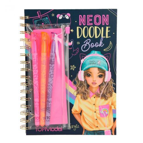 Depesche Top Model Neon Doodle Book With Neon Pen Set