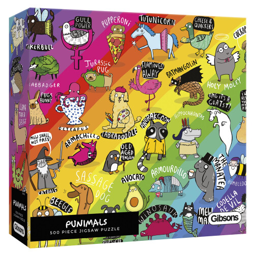 Gibsons Punimals 500pc Puzzle