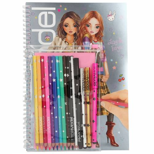 Depesche Top Model Colouring Book With Pen Set - Lexy & Fergie