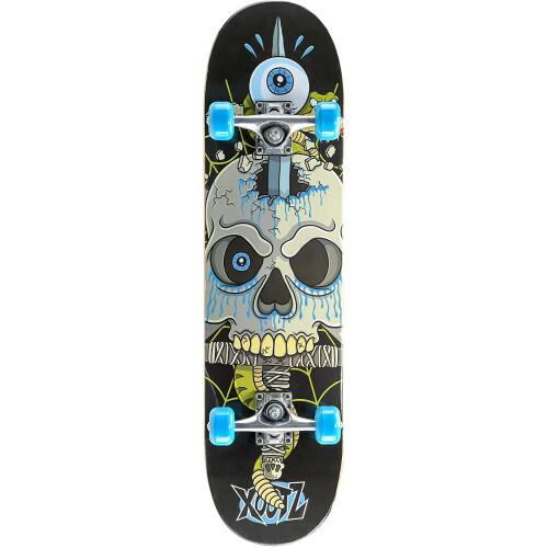 """Xootz Kids 31"""" Double Kick End Skateboard - Snake Skull"""