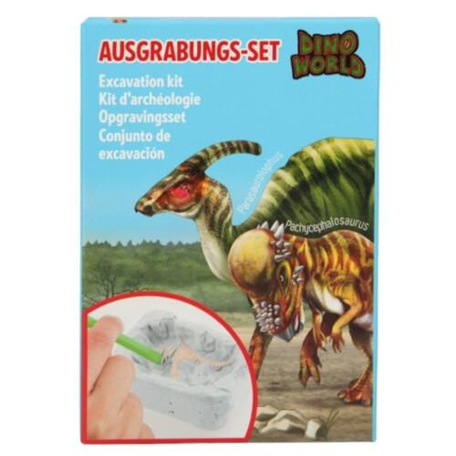 Dino World Excavation Kit - Parasaurolophus or Pachycephalosaurus