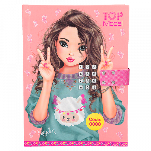 Depesche Top Model Diary With Code And Sound, Apricot