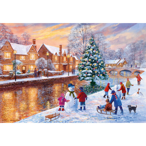 Gibsons  Bourton At Christmas 500pc Puzzle