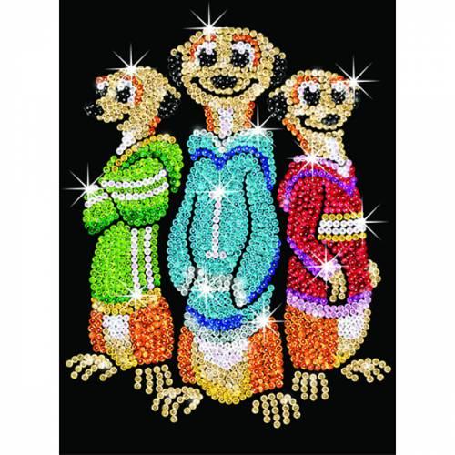 Sequin Art Ltd. Sequin Art Red Rascals, Meerkats 1008